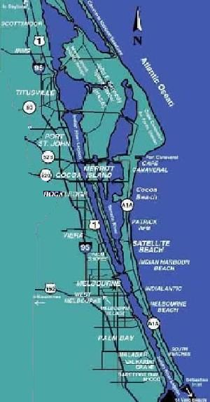 Brevard County Map